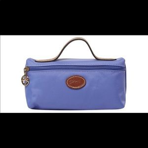 Periwinkle cosmetic longchamp bag